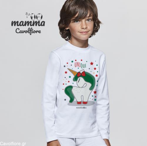 Χριστουγεννιάτικο Μακρυμάνικο παιδικό μπλουζάκι Xmas - Μονόκερος