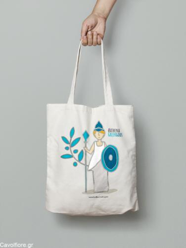 Οικολογική Βαμβακερή τσάντα ώμου - GREEK GOD'S - ATHENA