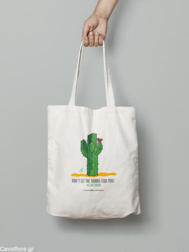 Οικολογική Βαμβακερή τσάντα ώμου - ΚΑΚΤΟΣ