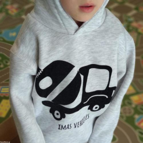 Χριστουγεννιάτικο Παιδικό φούτερ - Hoodie Xmas Vehicles