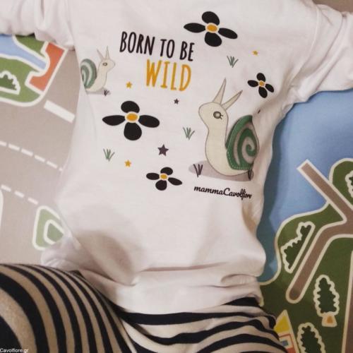 """Μακρυμάνικο παιδικό μπλουζάκι """"BORN TO BE WILD"""""""