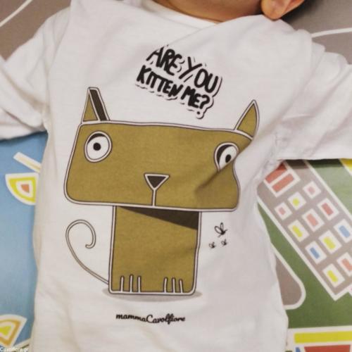 """Μακρυμάνικο παιδικό μπλουζάκι """"Are you kitten me?"""""""