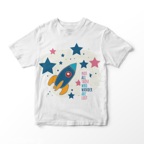 SPACE - NOT ALL THOSE - Παιδικό κοντομάνικο μπλουζάκι