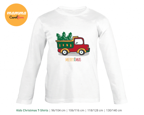 Φορτηγό - Μακρυμάνικο μπλουζάκι - Χριστούγεννα 100% Cotton