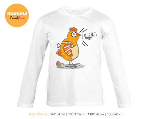 Κότα - Μακρυμάνικο μπλουζάκι - Πάσχα 100% Cotton