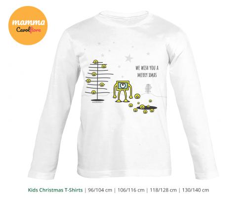 Εξωγήινοι 01 - Μακρυμάνικο μπλουζάκι - Χριστούγεννα 100% Cotton