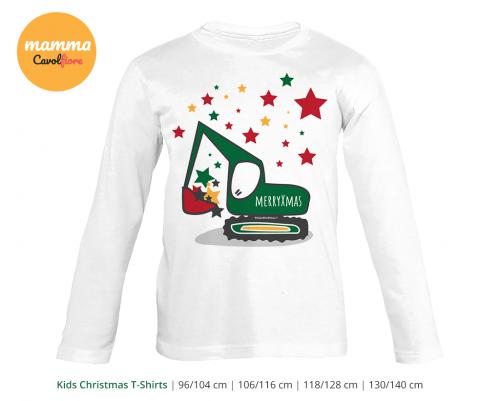 Εσκαφέας - Μακρυμάνικο μπλουζάκι - Χριστούγεννα 100% Cotton