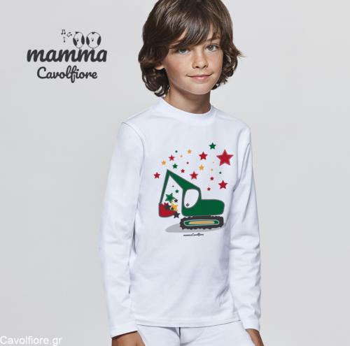 Χριστουγεννιάτικο Μακρυμάνικο παιδικό μπλουζάκι Xmas - ΕΣΚΑΦΕΑΣ