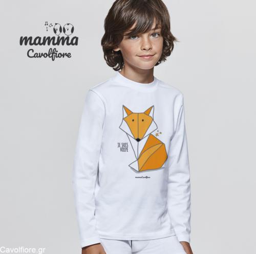 """Μακρυμάνικο παιδικό μπλουζάκι """"JE SUIS VOLPE"""""""